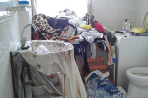 Badkamer leeg ruimen boedelruiming